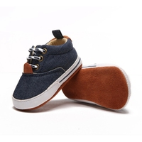 Newborn Baby Boys Crib Shoes Breathable Anti Slip Safe Casual Canvas Shoes Sneakers Toddler Soft Soled First Walkers 0 18Month