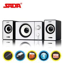 SADA D-200D Bluetooth Computer Speaker Stereo Portable Multimedia Laptop USB Speaker TF/U Disk Bass Gun Support AUX Input