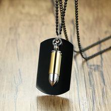 Модные индивидуальные золотые ожерелья с пулями для женщин модные