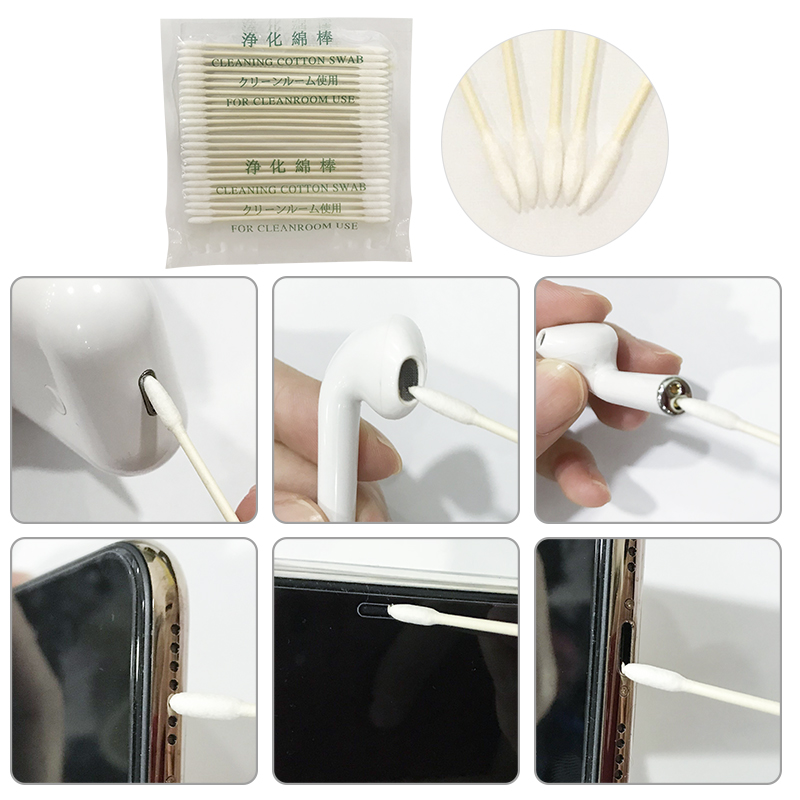 Dust Free Disposable Cleaning Swab Cotton Stick For AirPods Earphone Headphone Phone Charge Port Accessories