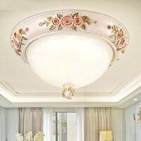 Европейский сад потолочный светильник розы Романтический Элегантность LED входные габаритные огни балкон крыльцо Ресторан канала