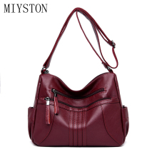 Classic Women Shoulder Bags Double Zipper Crossbody Fashion Ladies Tote Messenger Handbags For