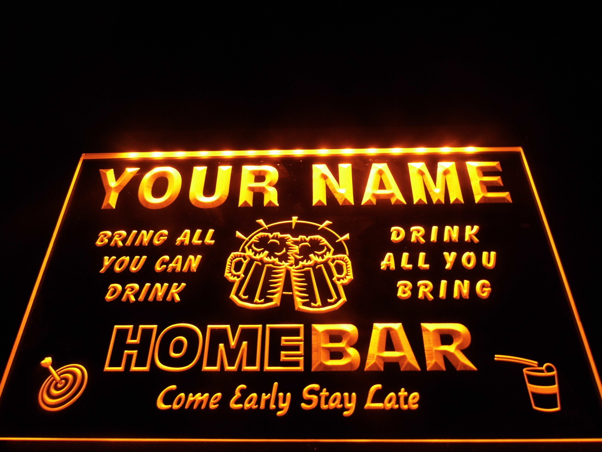 dz057 name personalized custom family home brew mug cheers bar beer neon sign hang sign home. Black Bedroom Furniture Sets. Home Design Ideas