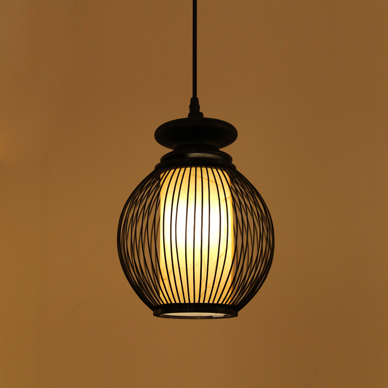 Japanese bamboo pendant lights Chinese style living room study bedroom creative clothing store decoration single head lamps ZA a1 clothing store dining room bedroom spider the heavenly maids scatter blossoms creative person pendant lights