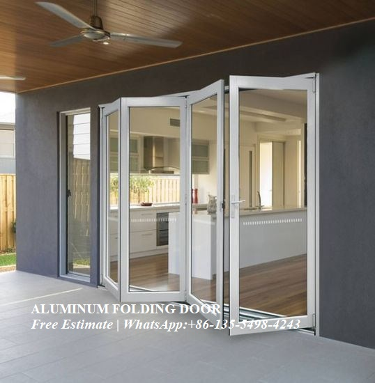 High Heat Insulation Performance,Artistical Aluminum Alloy Sliding Glass Bi-folding Doors
