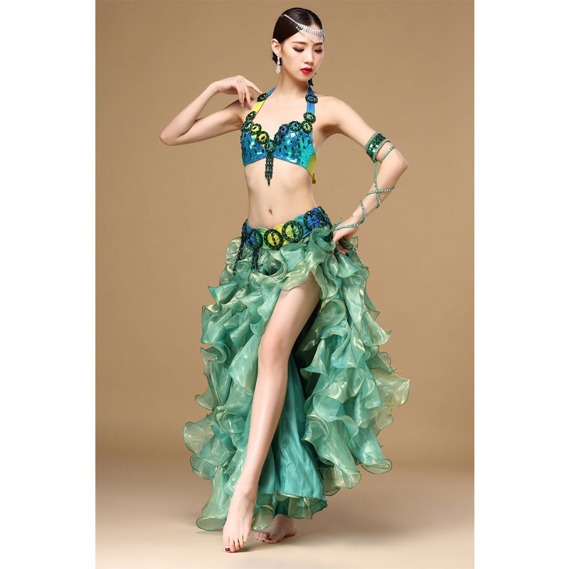 Seseria New Sexy Belly Dance Costume Women Adult Indian -7596