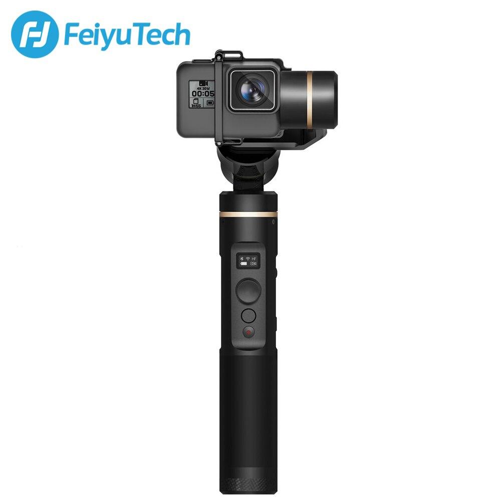 FeiyuTech G6 3 axes stabilisé à main cardan Feiyu caméra d'action pour GoPro Hero7 noir argent blanc Hero6 Hero5 Sony RXO Yi 4 K