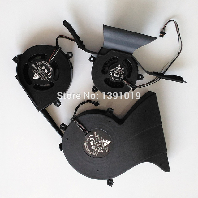 O envio gratuito de ventilador de refrigeração da cpu original para apple imac 24 ''a1225 dvd motorista disco rígido fã ventilador 3 em 1
