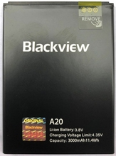 100% Original Backup Blackview A20 3000mAh Battery For Blackview A20 Smart Mobile Phone смартфон blackview rud001 204668 03