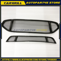 2x Front Bumper Upper&Lower Carbon Fiber Grille For Ford Mondeo/Fusion 2013 2016