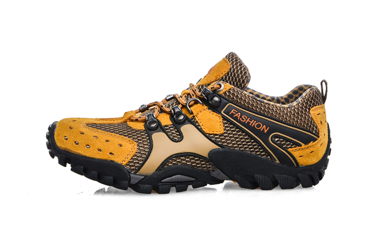 ФОТО 2017 Best Mens Hiking Trail Shoes Summer/Autumn Trekking Climbing Shoes Men Gray/Army Green Outdoor Men Shoes Sport Breathable