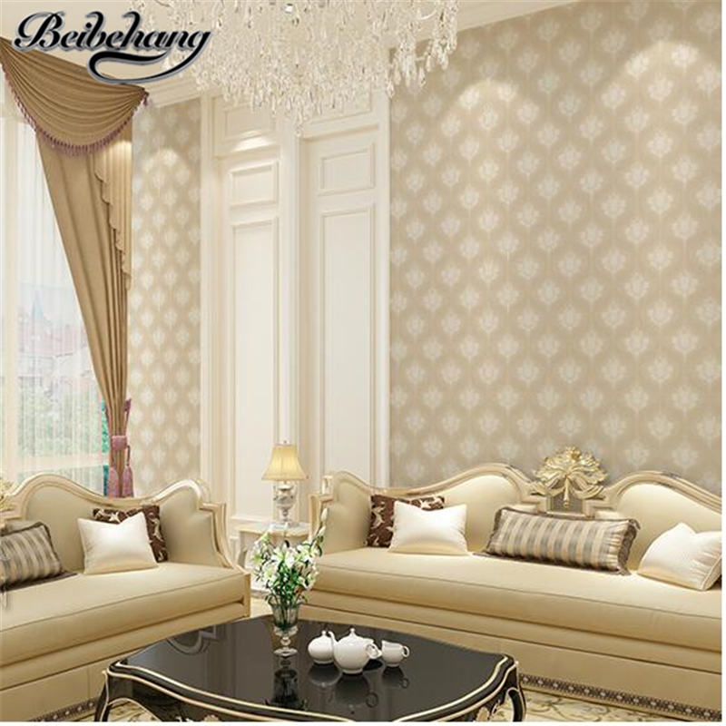 beibehang 3D Stereo Pastoral Leaves Nonwovens Wallpapers European Retro Old Living Room TV Background Wallpaper Ceilings beibehang warm european bedroom wallpapers 4d stereo nonwovens wallpapers living room tv background wallpapers