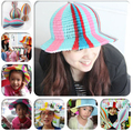 2014 New Novelty DIY paper sun hat flower vase style hats mixed colors 20 pieces/lot Free Shipping