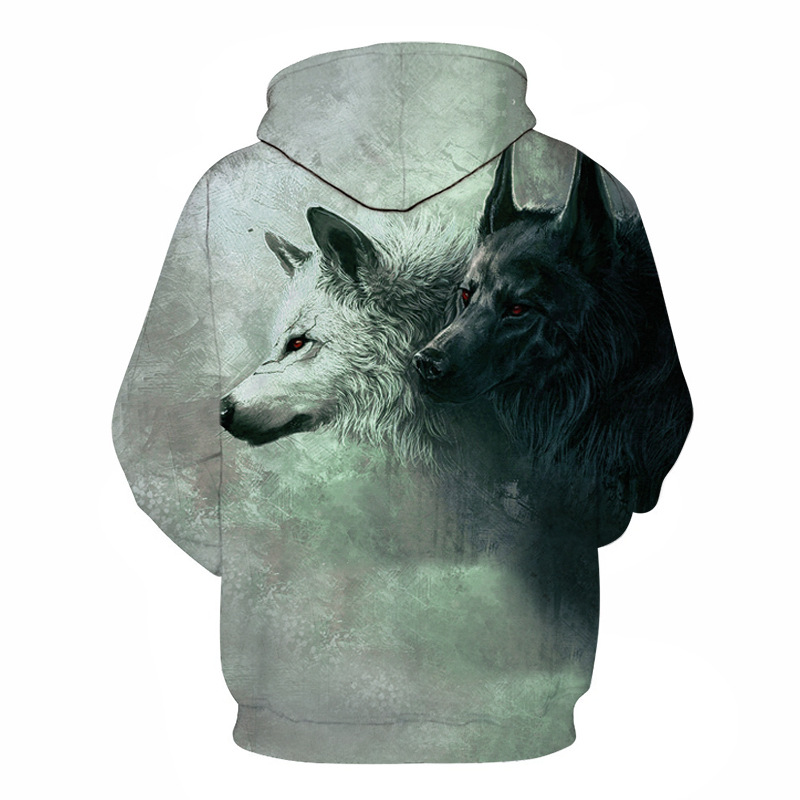 Wolf Printed Hoodies Men 3D Hoodies Brand Sweatshirts Boy Jackets Quality Pullover Fashion Tracksuits Animal Street wear Out Coat 115