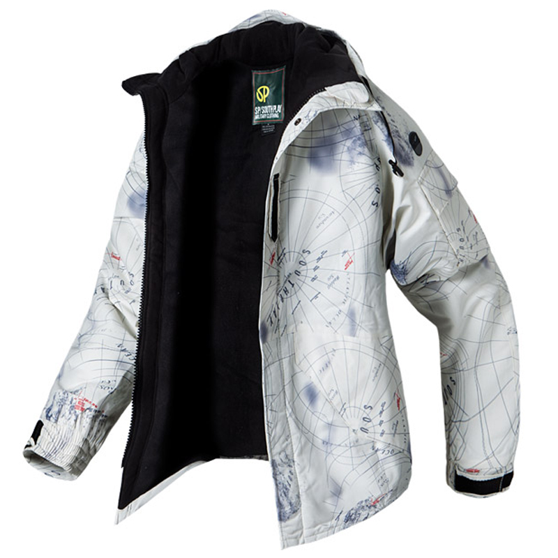 New Edition SouthPlay Men's Waterproof 10,000mm Winter Season Warming Galaxy White Military Jacket