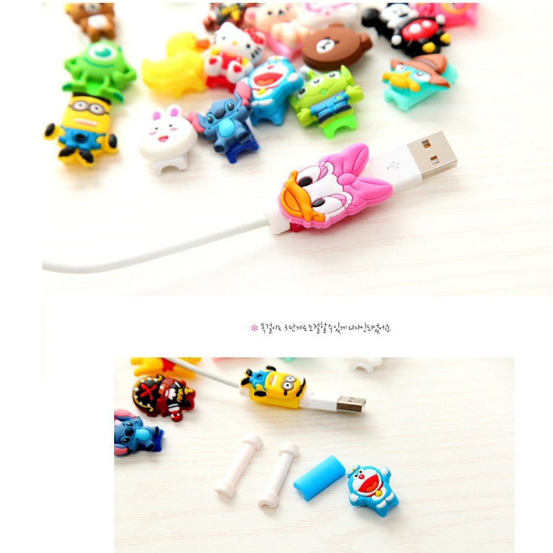 2017 Cartoon font b Cable b font Protector Data Line Cord Protector Protective Case font b