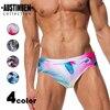 AUSTINBEM Sexy Men's Swim Briefs Printed Beach Swimsuit Gay Mens Swimwear Mens Thong Swimwear Spa Swimming Suit