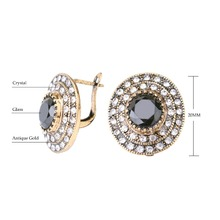 Big Crystal Earrings For Women