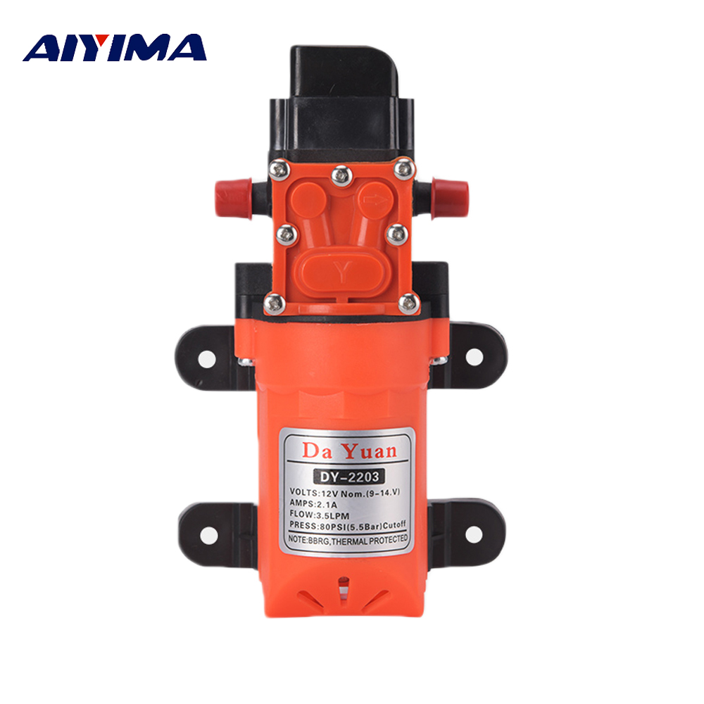 Aiyima Micro DC12V Diaphragm Pump Smart Pressure Switch Electric Sprayer Self-priming Car Wash Water Pump Motor 4L/min утюг philips gc 2910