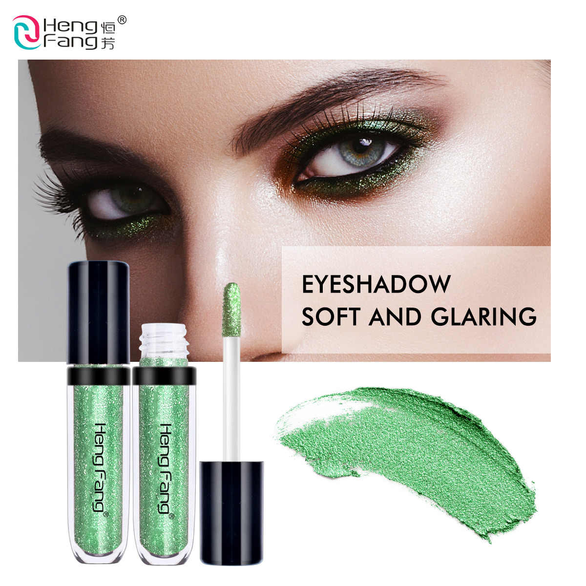Macio E Gritante 6 Cores Da Sombra sombra de Olho Líquido 1.7gX6 Beleza Olhos Maquiagem Marca HengFang # H6535