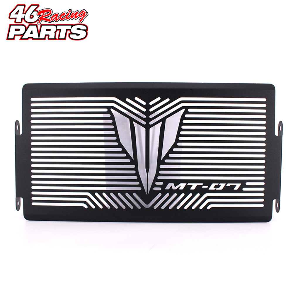 Black Motorcycle Accessories Radiator Guard Protector Grille Grill Cover For YAMAHA MT07 MT-07 mt 07 2014 2015 2016 цена