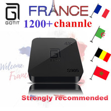 Французский Бельгии IP ТВ gotit s905 4 К Smart Android ТВ Box 1000 + Neo ТВ Португалии IP ТВ арабский тунис Марокко Германия Италия pay ТВ и vod