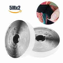 ФОТО 5m*2 hook and loop fastener, self adhesive sticky tape, heavy duty hook loop tape reusable double sided sticky tape 20mm