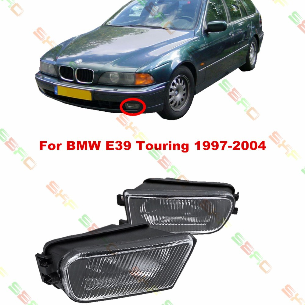 For BMW E39 Touring  1997/98/99/2000/01/02/03/04  car styling fog lights fog lamps  1 SET  Pattern glass защитные аксессуары car pakistan bmw alpina