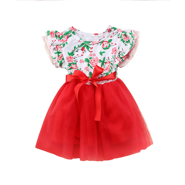 Trend Pakaian Natal Bayi perempuan Newborn Anak Xmas Baju Monyet Renda  Busur Gaun Pesta Pernikahan Gaun 62f8f21b56