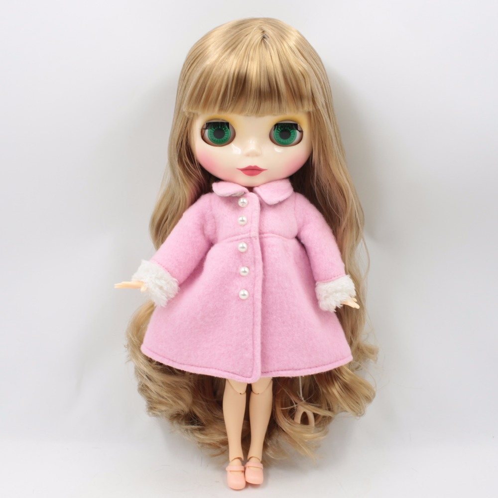 купить free shipping factory blyth doll blonde brown hair shiny face joint body 1/6 30cm toy gift