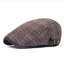 BINGYUANHAOXUAN 2018 New Summer Autumn Plaid Berets Fashion Hats Mens Beret Caps