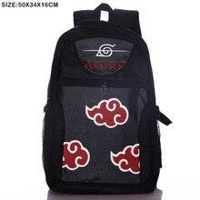 Anime Naruto Shippuden Akatsuki Laptop Schwarz Rucksack/Doppelt Schulter/Schule/Reisetasche für Jugendliche oder Animation enthusiasten