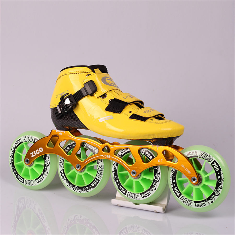 EUR size 32-45 Cityrun Speed Inline Skates Fiberglass Competition Skates 4 Wheels Street Racing Skating Patines 4 Colors [7000 aluminium alloy] original vortex inline speed skate frame base for 4x110mm 4x100mm 4x90mm skating shoe bcnt sts cityrun