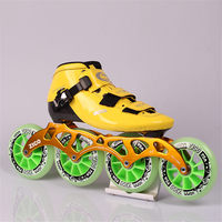 EUR size 32 45 Cityrun Speed Inline Skates Fiberglass Competition Skates 4 Wheels Street Racing Skating Patines 4 Colors