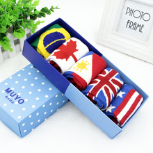 5Pairs Lot 2016 New Fashion Cute Children Sock Cute National Flag Baby Kids Socks For Girl