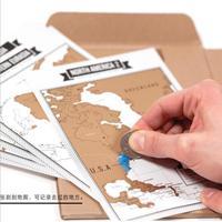10 шт. популярный журнал Тетрадь s + Скретч Карта путешествий Дневник путешествия Тетрадь с 8 мини мир Карты