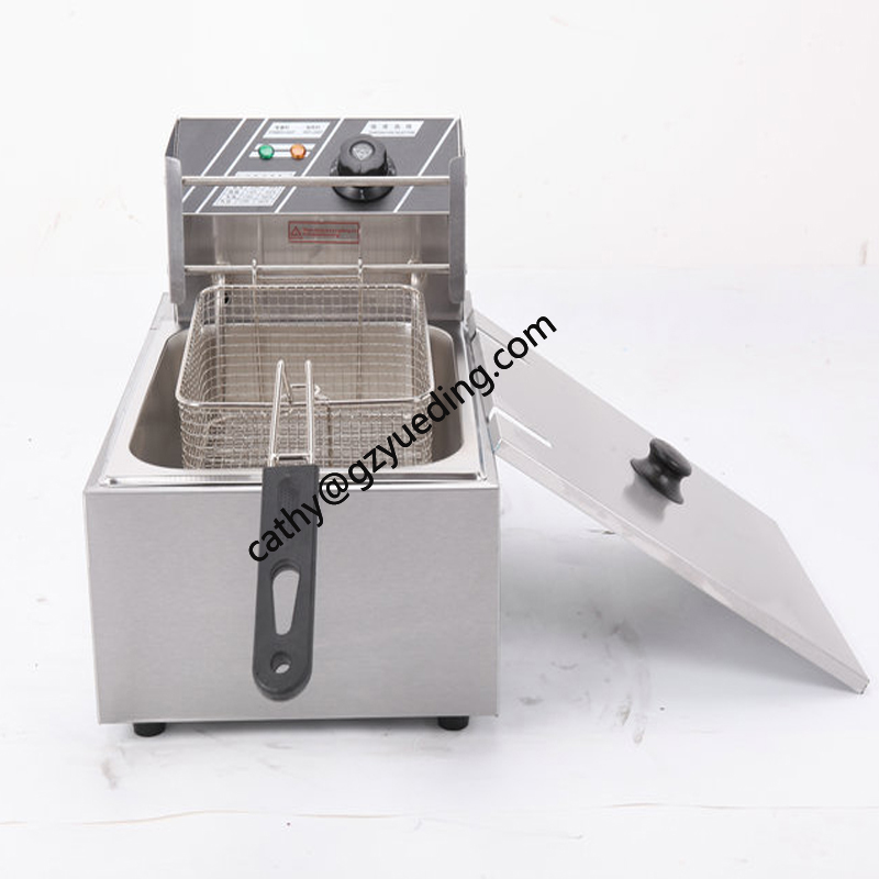 Electric Industrial Deep Fryer/Deep Fat Fryer Machine Commercial potato chips frying machine / Electric deep fryer 2 6l air fryer without large capacity electric frying pan frying pan machine fries chicken wings intelligent deep electric fryer