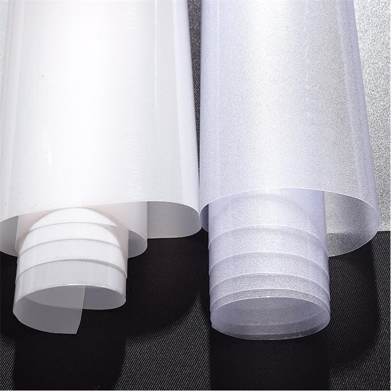 90*500cm/lot Decorative Films Protect Privacy Static Window Film Self Adhesive No Glue Solid Color Removed Film Bathroom Kitchen