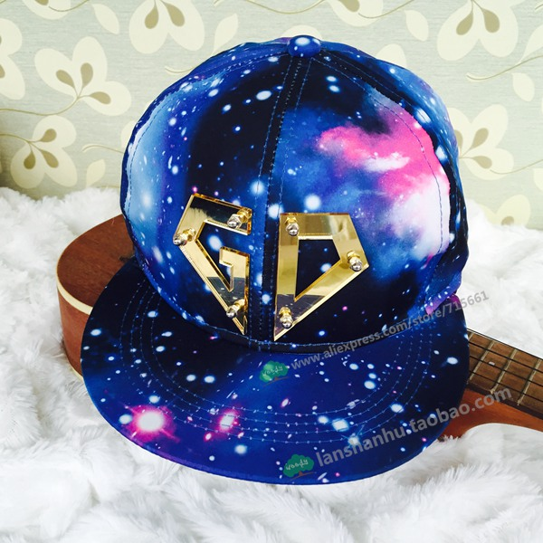 b0834424897 New Fashion Galaxy Baseball Cap for Women Men KPOP Hot Bigbang G-dragon Snapback  Snap Back Unisex Hip Hop Hats gorras
