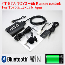 Adapter bluetooth YT-BTA z pilotem do Toyota camry corolla Vitz Lexus Scion 6 + 6pin radia