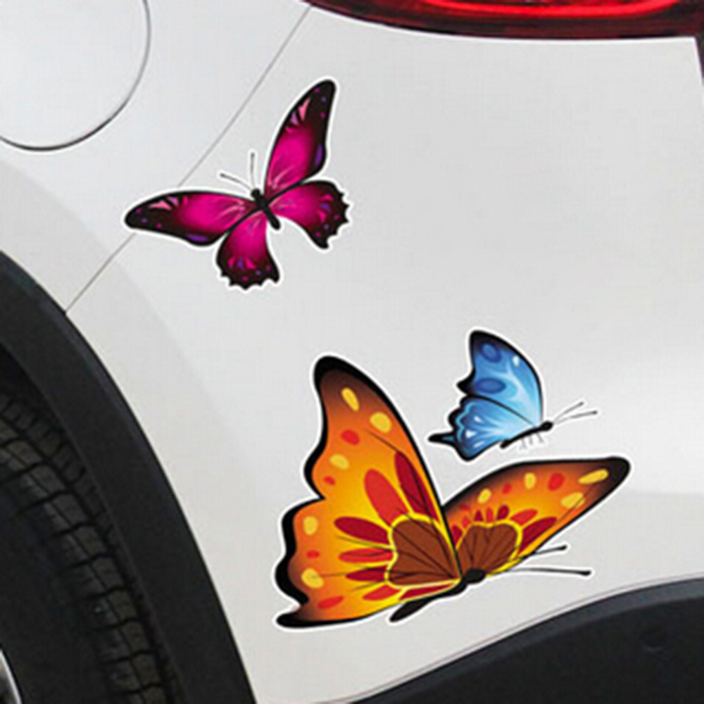 Car Motorcycle Sticker Butterfly Creative Decoration Automobiles Accessories The Car Body Stickers and Decals Car-Styling New 16 strips motorcycle accessories 7 colors car styling decals 17 or 18 inch car stickers wheel rim sticker reflective tape