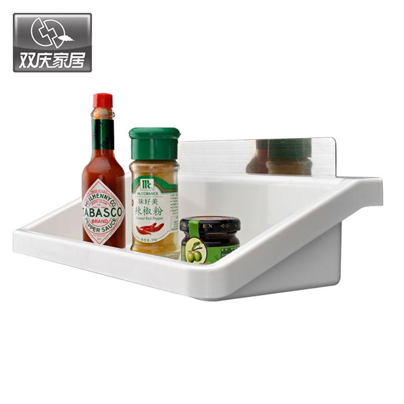 Ordinary Kitchen Magic Reviews #9: Magic Flexible Sticker Kitchen Shelf Spice Bathroom Multifunction Plastic Condiment Storage Rack Bathroom Organizador