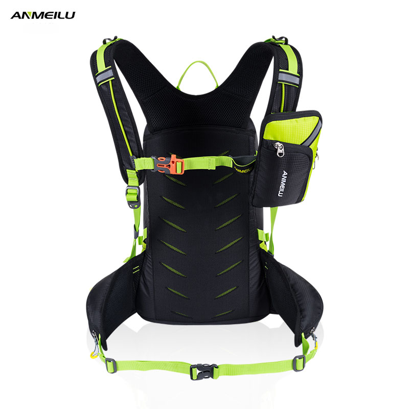 ANMEILU 20L Waterproof Camping Hiking Backpack With Rain Cover Climbing Cycling Backpack Outdoor Sport Rucksack 2L Water Bag
