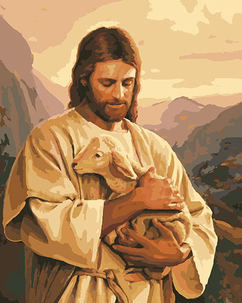 6 Style Famous Religion Oil Painting Of Jesus Christ 40 50cm