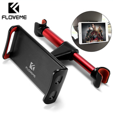 FLOVEME 4-11 Car Back Seat Phone Tablet PC Holder For iPhone Samsung iPad 360 Degree Rotation Car Mount Headrest Bracket Stand car back seat holder for 4 to 11 inch phone tablet holder 360 degree rotating tablet car holder for ipad iphone tablet stands