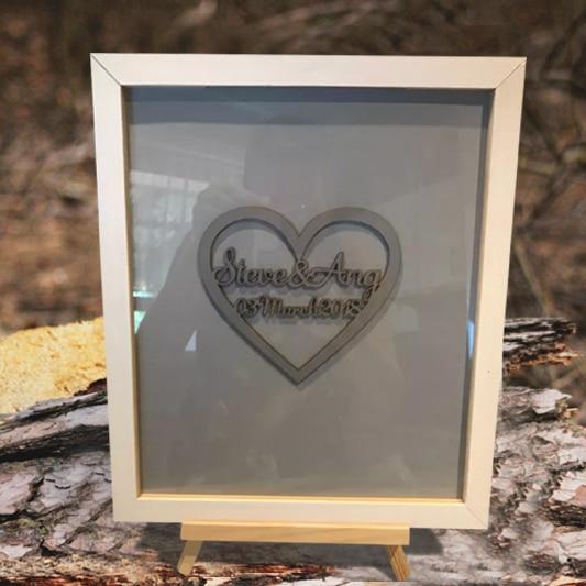 Personalized Drop Top Box Guest Book Wedding Signature Frame Big ...