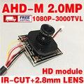 1920*1080 P адг-м 2.0 Мегапиксельная V30E + GC2023 Аналоговый 3000tvl Закончил HD Монитор модуль чип 2.8 ММ 3.0MP ОБЪЕКТИВА Широкоугольный + ircut