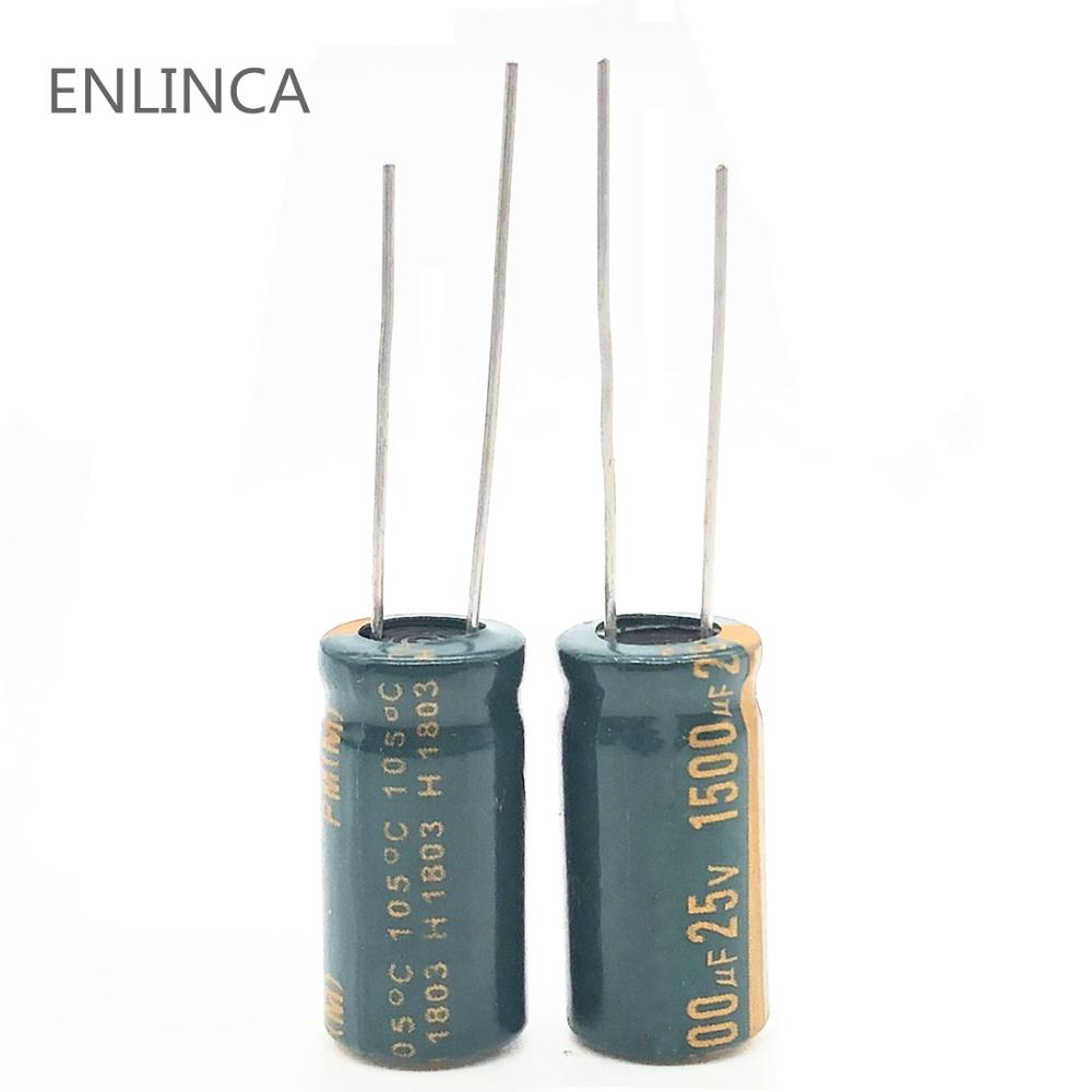 2pcs/lot Q03 25V 1500UF Low ESR/Impedance High Frequency Aluminum Electrolytic Capacitor Size 10*20 1500UF25V 20%