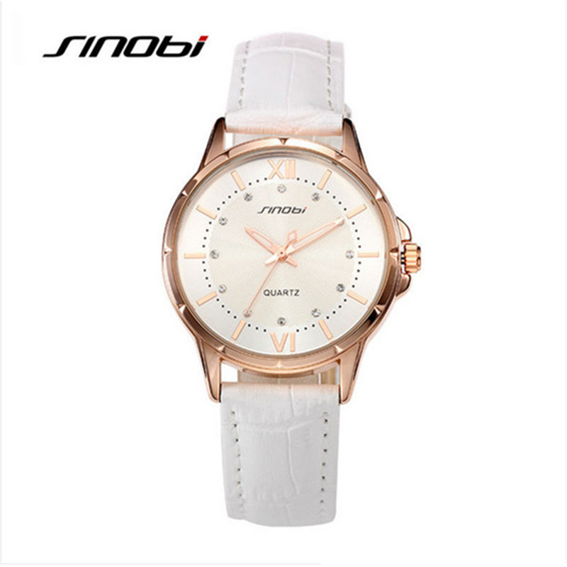 SINOBI Top Brand Luxury Rhinestone Watch Women Watches Fashion Leather Women's Watches Clock saat montre femme relogio feminino 2016 top julius brand luxury crystal watches leather strap rhinestone fashion qaurtz wrist watch montre femme relogio feminino