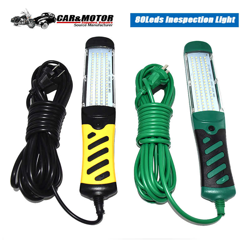 Land-Best 80 Leds Car Inspection Light Flashlight Strong Magnetic LED Emergency Safety Work Light Car Repair Handheld Work Lamp